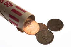 Penny Roll Royalty Free Stock Photography