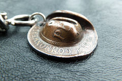 Penny Slouch Hat. Australian One Penny Slouch Hat Keyring Royalty Free Stock Photos