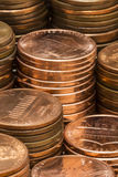 Penny Stacks Stock Foto