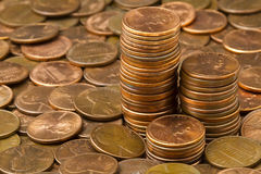 Penny Stacks Three Royalty Free Stock Images