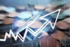 Penny Stock Investing With Share-Prijs die hoog - kwaliteit stijgen royalty-vrije stock afbeeldingen