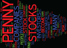 Are Penny Stocks For You Word Cloud Concept Stock Images