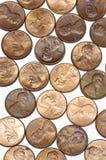 Penny su priorità bassa bianca Immagini Stock