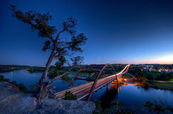 Pennybacker Brücke an der Dämmerung Lizenzfreie Stockbilder