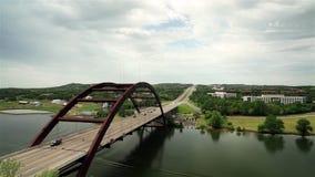 Pennybacker Bridge Austin stock video