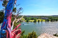 Pennybacker bro eller bro 360 en Austin Texas Landmark royaltyfri fotografi