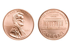 Pennymakro getrennt Stockbild