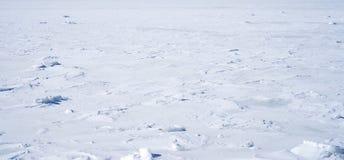 Penobscot Bay frozen over in Maine Stock Photography