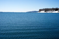 Penobscot Bay at Searsport, Maine. View of Penobscot Bay in the winter time at Searport, Maine Royalty Free Stock Photos