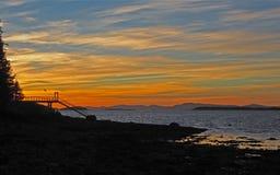Penobscot-Bucht Maine Sunset Stockbild