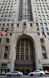 Penobscot building in Detroit, MI. DETROIT, MI - JULY 6: The Greater Penobscot building in Detroit, MI, shown here on July 6, 2014, is a 1928 Art Deco skyscraper Royalty Free Stock Photography