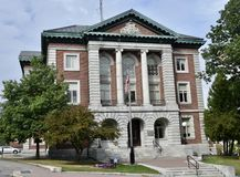 Penobscot County Courthouse. This is a Fall picture of the historic Penobscot County Courthouse located in Bangor, Maine.  The structure was designed by Wilfred Royalty Free Stock Images