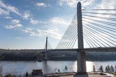 Penobscot Narrows Bridge Royalty Free Stock Images