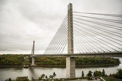 Penobscot Narrows bridge. Duing the fall, Verona Isoland, Maine, USA Royalty Free Stock Photo
