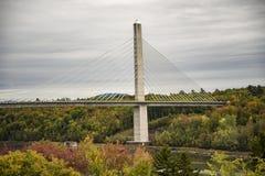 Penobscot Narrows bridge. Duing the fall, Verona Isoland, Maine, USA Stock Image