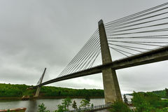 Penobscot Narrows Bridge - Maine. The Penobscot Narrows Bridge is a 2,120 feet (646 m) long cable-stayed bridge over the Penobscot River in Maine Royalty Free Stock Photos