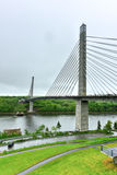 Penobscot Narrows Bridge - Maine. The Penobscot Narrows Bridge is a 2,120 feet (646 m) long cable-stayed bridge over the Penobscot River in Maine Stock Images