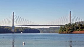 The Penobscot Narrows Bridge in Maine Stock Images