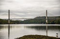 Penobscot Narrows Bridge. In North of Maine, USA Stock Photos