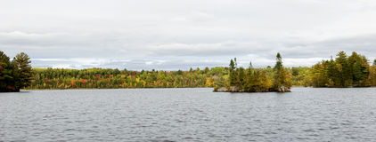 Penobscot River View from Medway. Beautiful view from the Penobscot River in Medway, Maine with fall colors Stock Photos