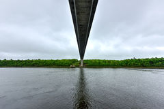 Penobscot trångt passbro - Maine fotografering för bildbyråer