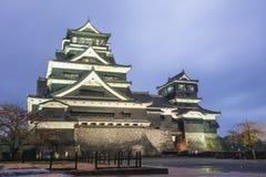 Penombra del castello di Kumamoto in Kyushu del Nord, Giappone Fotografie Stock Libere da Diritti
