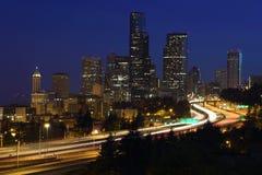 Penombra del centro di Seattle Immagini Stock Libere da Diritti