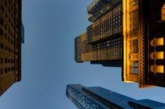Penombra della megalopoli di vista dell'orizzonte del grattacielo di New York fotografie stock