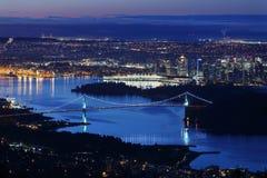 Penombra di Vancouver dell'entrata di Burrard fotografia stock libera da diritti