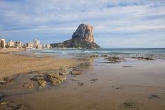 Penon de Ifach在Calpe,阿利坎特,西班牙 免版税图库摄影