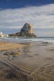 Penon de Ifach在Calpe,阿利坎特,西班牙 免版税库存照片