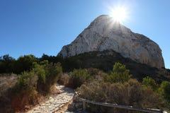 Penon de Ifach in Calpe, Spagna fotografia stock libera da diritti