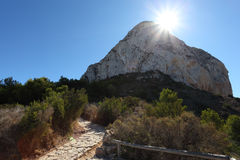 Penon de Ifach in Calpe, Spain Royalty Free Stock Photography