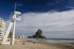 Penon de Ifach em Calpe, Alicante, Espanha Fotografia de Stock Royalty Free