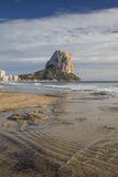 Penon de Ifach i Calpe, Alicante, Spanien Royaltyfri Foto
