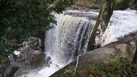 Penpobmai waterfall in Phu Kradueng National Park, Loei province, Thailand stock video