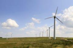 Penrhyddlan和LLidiartywaun风力场 库存图片