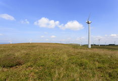 Penrhyddlan e parco eolico di LLidiartywaun fotografia stock libera da diritti