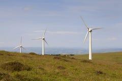 Penrhyddlan e parco eolico di LLidiartywaun immagini stock libere da diritti