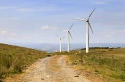 Penrhyddlan e parco eolico di LLidiartywaun Immagini Stock
