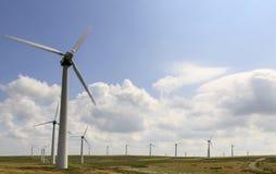 Penrhyddlan e parco eolico di LLidiartywaun Fotografia Stock