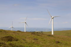 Penrhyddlan and LLidiartywaun Wind farm. Near Llandinam, Mid Wales royalty free stock images
