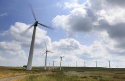 Penrhyddlan and LLidiartywaun Windfarm. Near Llandinam, Mid Wales stock images