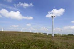Penrhyddlan och LLidiartywaun Windfarm arkivbilder