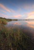 Penrith Lakes. Sunset views south at Penrith Lakes, Australia Stock Photo