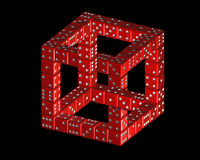 Penrose cube from dice Stock Photos