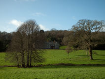 Penrose Estate nr. Helston Cornwall. Grounds and manor house on the Penrose estate near Helston in Cornwall Royalty Free Stock Image