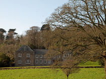 Penrose Manor House Cornwall. The house and grounds of Penrose Estate in Cornwall, near Porthleven and Helston Royalty Free Stock Image