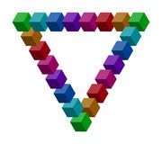 Penrose triangle Stock Images
