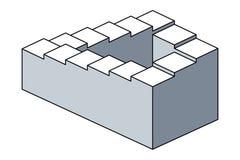 Penrosetreden, onmogelijke trappen, optische illusie vector illustratie